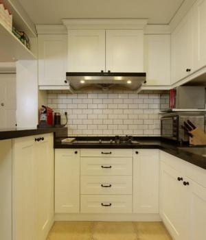 U型精致美式厨房装修效果图