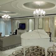 欧式客厅装修造型图