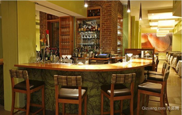 2015高档酒吧吧台装修效果图