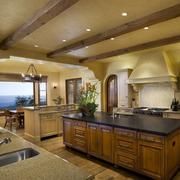 开放式厨房装修造型图