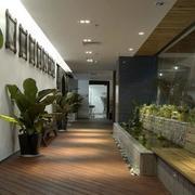 办公室室内盆栽装修灯光设计