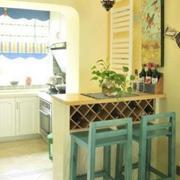 小厨房吧台装修飘窗图