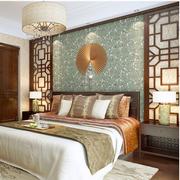 中式风格榻榻米床装修背景墙图
