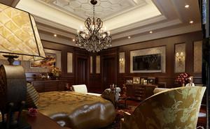 幽雅华美的美式风格别墅客厅装修效果图欣赏