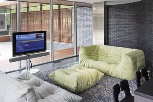 展现时代的懒人沙发客厅装修效果图