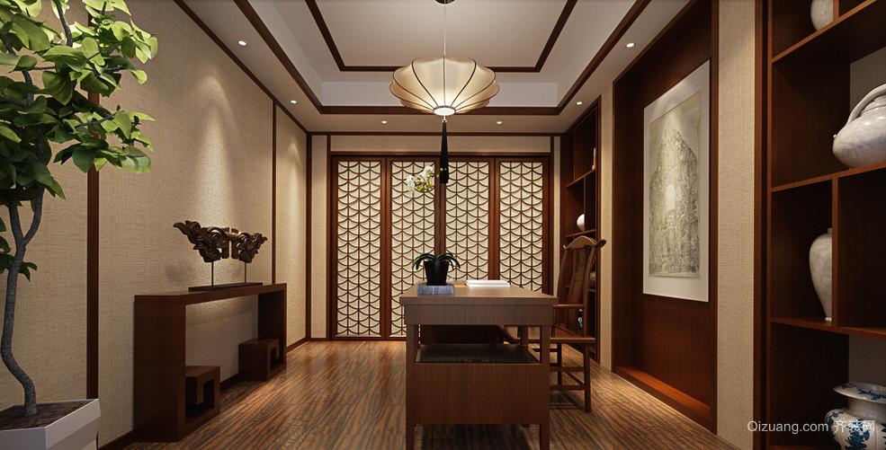 中式别墅书房装修效果图