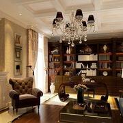 欧式风格书房装修背景墙图