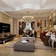 客厅设计装修窗帘图