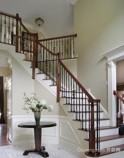全新舒适阁楼实木楼梯装修效果图