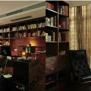 地中海风格书房装修整体图