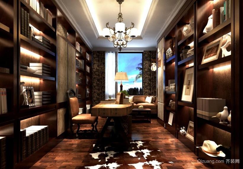 古典华丽的书房设计装修效果图鉴赏