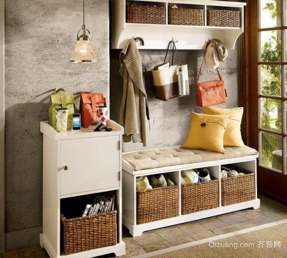 美式乡村小别墅家庭鞋柜装修效果图