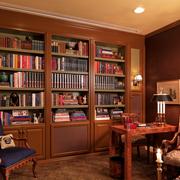 美式风格书房装修整体图