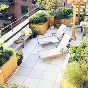 露台花园装修观台图