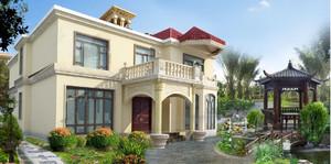 东南亚风格小洋楼外观效果图