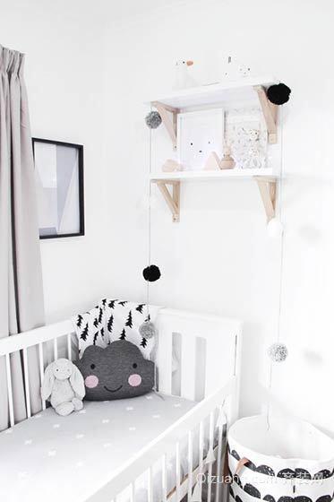 黑白色儿童房装修风格效果图