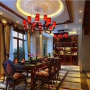中式风格酒柜装修吊顶图