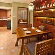 东南亚风格酒柜装修桌椅图