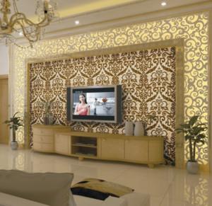 120平米时尚欧式客厅电视背景墙