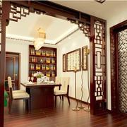 中式风格酒柜装修隔断图