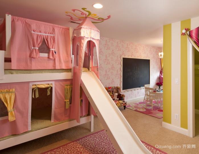 现代简约风格女儿童房装修效果图