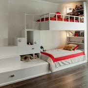 儿童卧室儿童床装修整体图