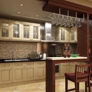 厨房吧台装修橱柜图