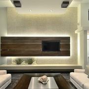 现代简约电视背景墙设计唯美图