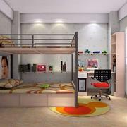 儿童卧室双层床装修造型图