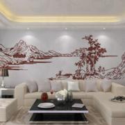 硅藻泥背景墙设计整体图