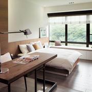 卧室飘窗设计桌椅图