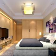卧室电视背景墙装修中式设计