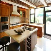 美式风格酒柜装修厨房图