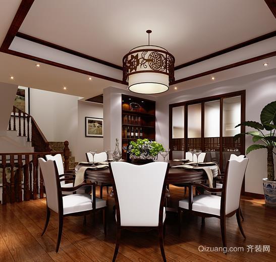 2015中国味十足餐厅酒柜装修设计效果图