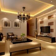 客厅背景墙装修灯光设计