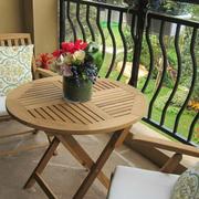 阳台花园设计桌椅图