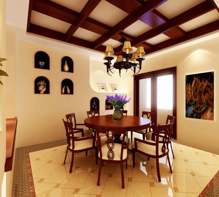 个性餐厅背景墙装修风格效果图
