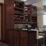 餐厅酒柜设计装修隔断图