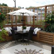 露台花园装修整体图