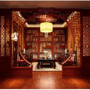 中式风格书房装修灯光设计