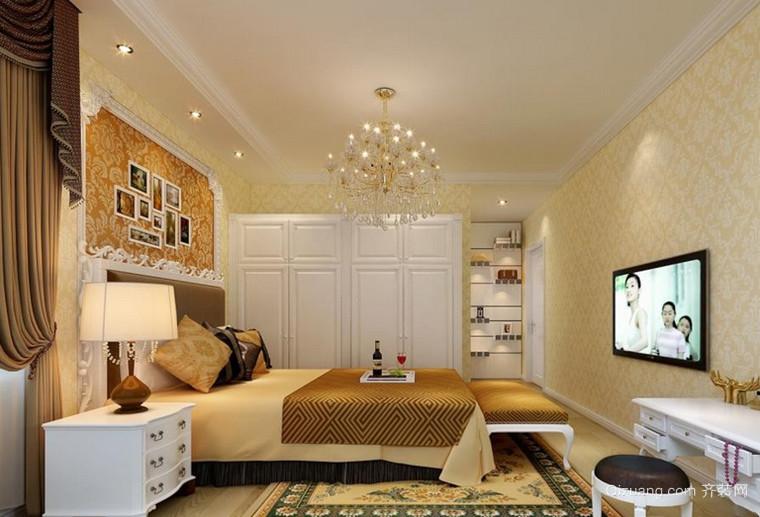新款的法式卧室背景墙装修效果图大全