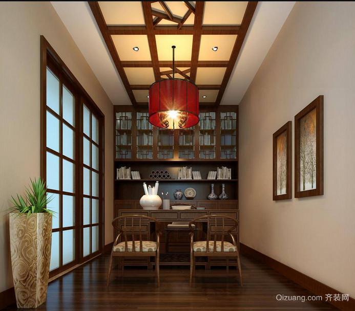宁静致远的中式风格书房装修效果图