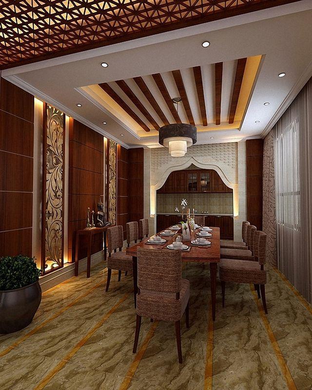 热情 的东南亚 风格 餐厅吊顶装修效果图鉴赏 齐