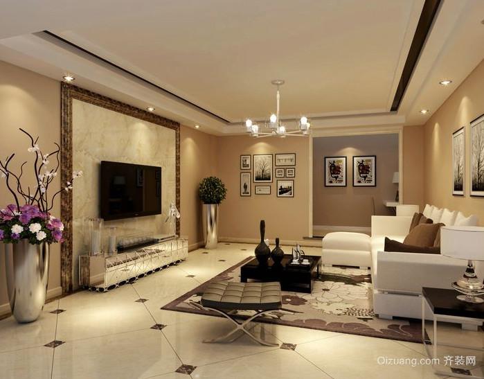 100平米简欧风格复式楼客厅装修效果图