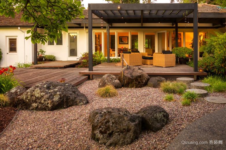环境宜人的露台花园装修效果图