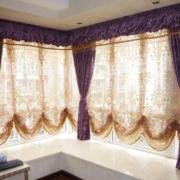 飘窗窗帘设计吊顶图