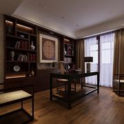 中式风格书房装修整体图