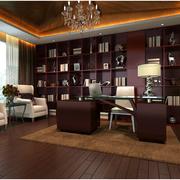 欧式风格书房装修整体图