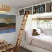 卧室双层床装修吊灯图