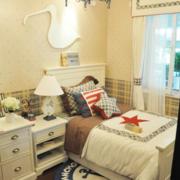 儿童房卧室装修背景墙图